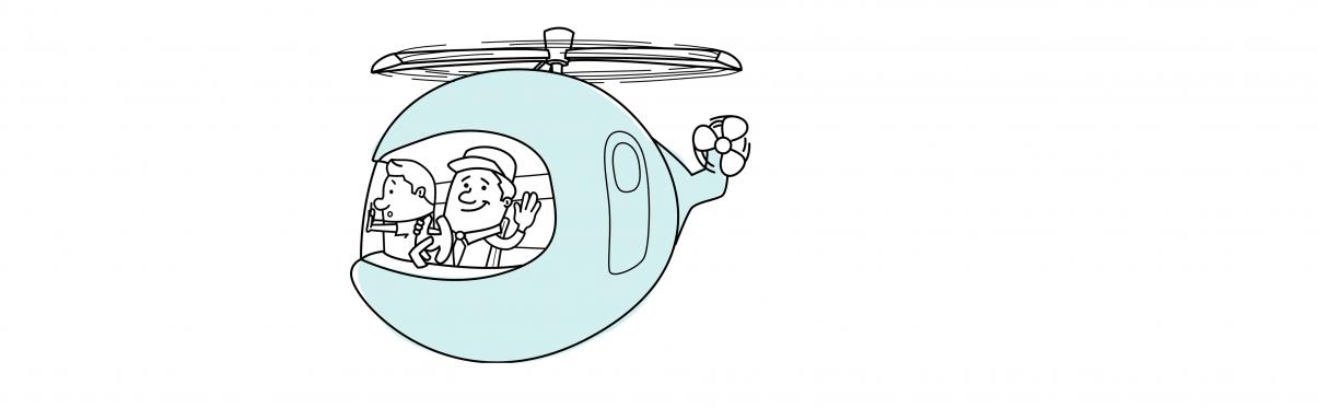 Helikopter-Chefs sind nicht unbedingt sachdienlich
